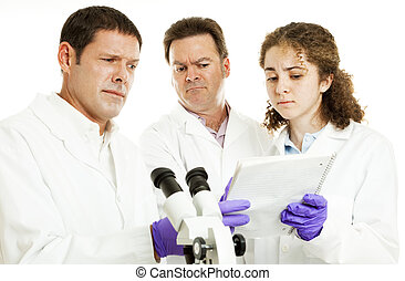 Scientists - Strange Test Results - Scientists or doctors in...