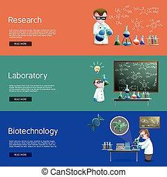 scienza, bandiere, ricerca
