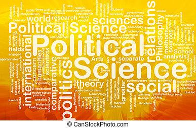 scienza, concetto, politico, fondo