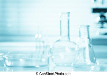 scienza, fondo, sfocato