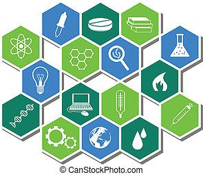 scienza, icone