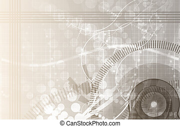scienza, ingegneria, astratto, fondo, meccanico