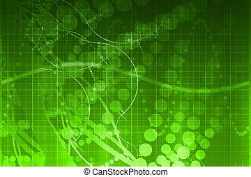 scienza medica, futuristico, tecnologia, astratto