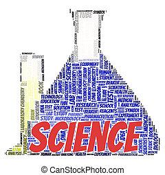 scienza, parola, nuvola, concetto