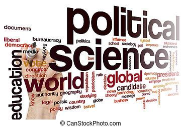scienza, parola, politico, nuvola
