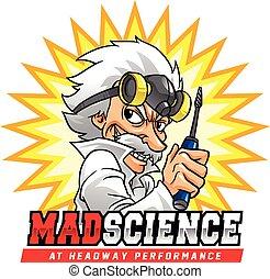 scienza, pazzo, professor.