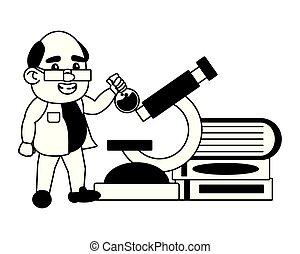 scienza, professore, scienziato