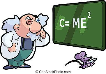 scienza, professore, topo