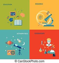 scienza, ricerca, appartamento