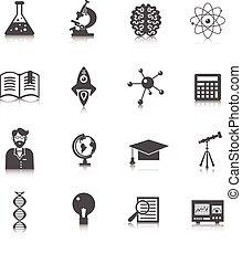 scienza, ricerca, icona