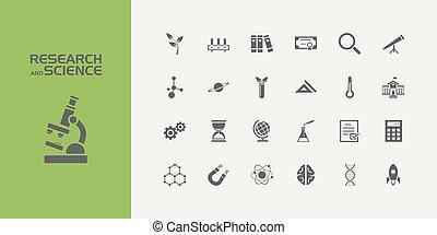 scienza, venti, set, cinque, icone