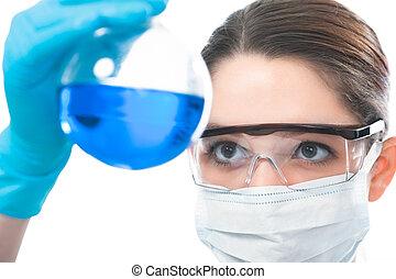 scienziato, lavorando, il, laboratorio