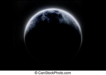 Scifi Planet 1 - Digital created, fictional Planet. Isolated...