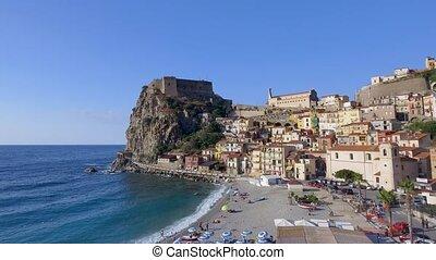 Scilla, Calabria. Southern Italian coastline in summer ...