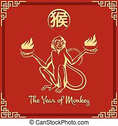 scimmia, anno