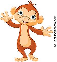 scimmia bambino