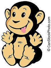 scimmia, cartone animato