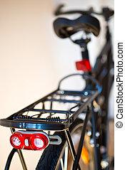 scintillation, sécurité, lumière, sur, les, nouveau, vélo