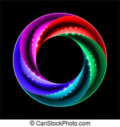 scintille, anello, colorito