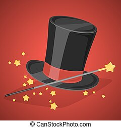 scintille, bacchetta magica, cappello