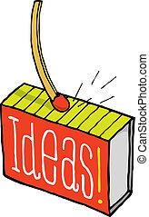 scintille, idea, fiammifero