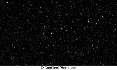 scintillement, ciel, étoiles, nuit
