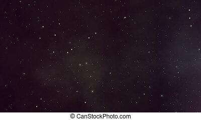 scintillement, encore, plasma, étoiles