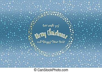 """scintillement, flocons neige, carte, christmas"""", étoiles, noël, texte, """"merry, translucide"""