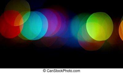 scintillement, lumières, bokeh, abstraction, coloré
