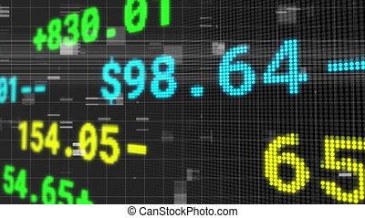 scintiller, échange, financier, sur, stockage, données, grille, traitement, animation