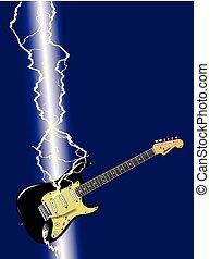 sciopero, chitarra, lampo