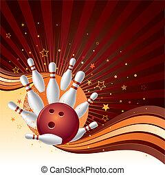 sciopero, fondo, bowling