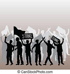 sciopero, lavorante