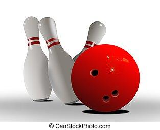 sciopero, palla, bowling