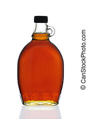 sciroppo acero, bottiglia
