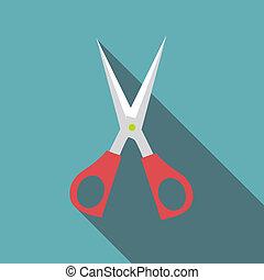 Scisors icon, flat style - Scisors icon. Flat illustration...