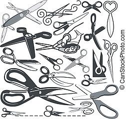scissor, verzameling