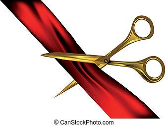 scissors, порез, лента