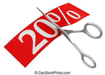 Scissors and 20% - Scissors and 20%. Image with clipping...