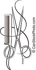 Scissors and comb design