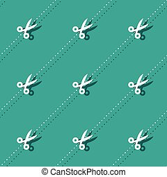 Scissors And Dots Haircutter Accessory Seamless Pattern...