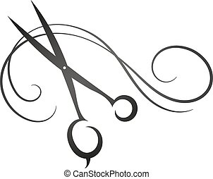Scissors and hair sign for beauty s - Scissors and hair sign...