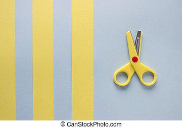 Scissors and paper.