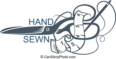 Scissors and sewing accessories illustration