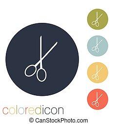 scissors. barbershop.
