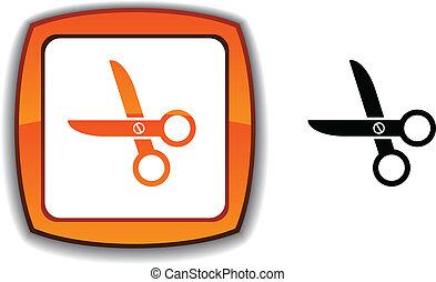 scissors button.