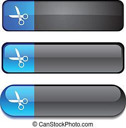 scissors  button set.