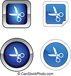 scissors  button set.