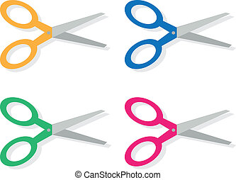 Scissors Colors - Scissors with different colored handles