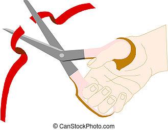 Scissors, cut the red tape